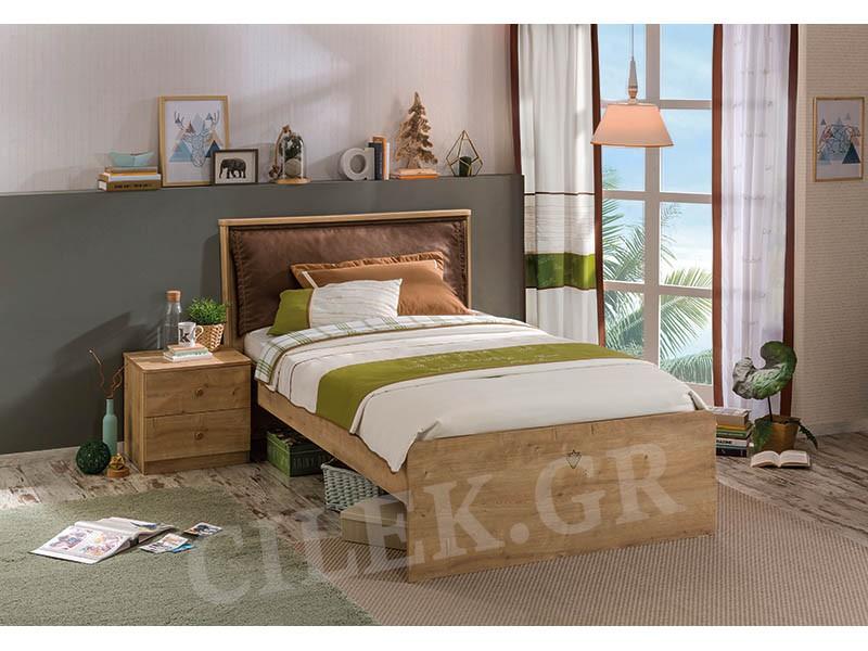 Παιδικό κρεβάτι ημίδιπλο MO-1305