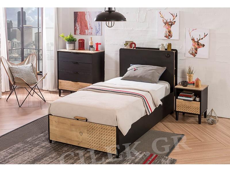 Παιδικό κρεβάτι με αποθηκευτικό χώρο BL-1705 – BL-1705