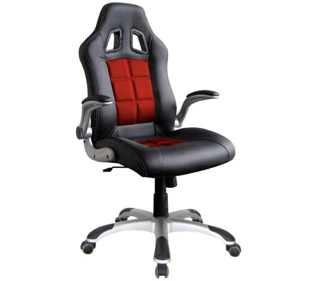 Παιδική καρέκλα γραφείου BS-8400 ΜΑΥΡΟ-ΚΟΚΚΙΝΟ