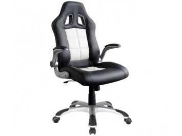 Παιδική καρέκλα γραφείου BS-8400 ΜΑΥΡΟ-ΛΕΥΚΟ