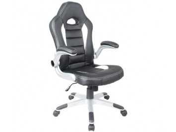 Παιδική καρέκλα γραφείου BS-9200 ΜΑΥΡΟ-ΛΕΥΚΟ