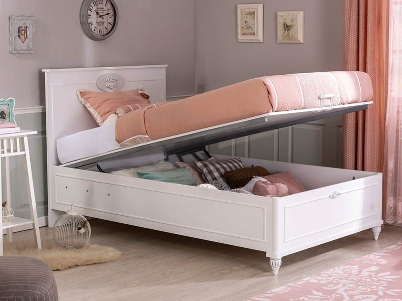 Παιδικό κρεβάτι ημίδιπλο με αποθηκευτικό χώρο RO-1708