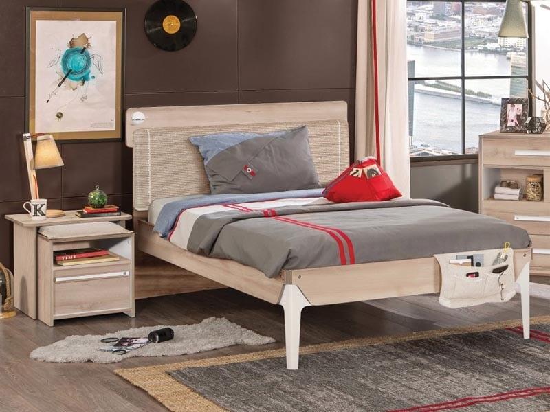 Παιδικό κρεβάτι ημίδιπλο D-1312 USB CHARGING – D-1312 USB CHARGING