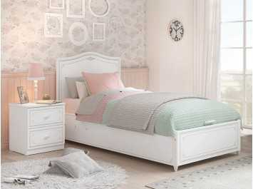 Παιδικό κρεβάτι με αποθηκευτικό χώρο SE-GREY-1705