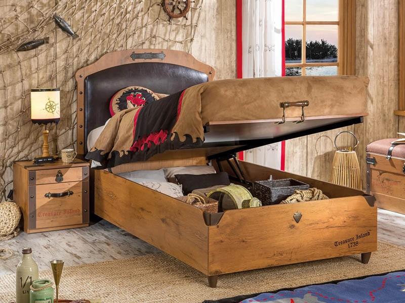 Παιδικό κρεβάτι με αποθηκευτικό χώρο KS-1706 | Cilek