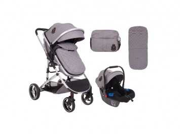 Καρότσι Stroller 3 in 1 Tiara Grey