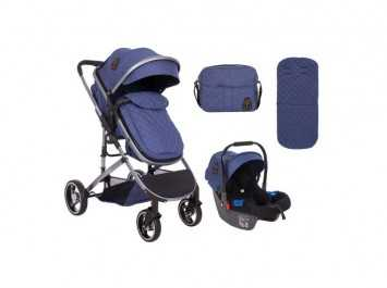 Καρότσι Stroller 3 in 1 Tiara Dark Blue
