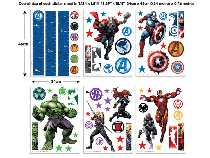 Sticker Marvel Heroes – 43138